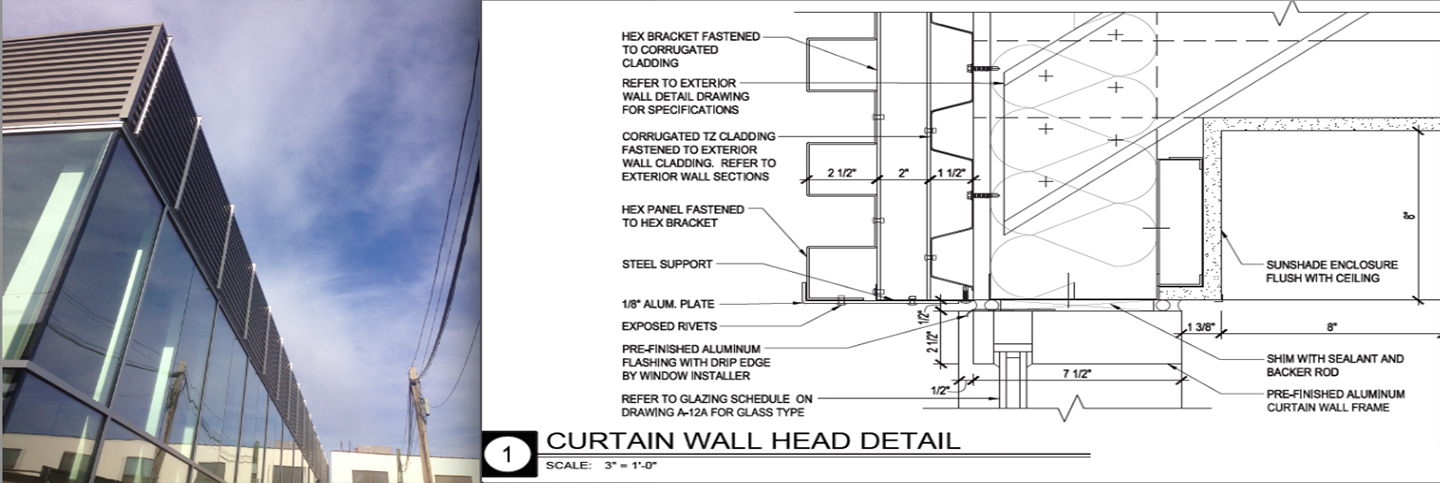 Corrugated metal wall section